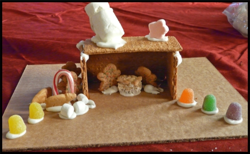 Telling The Christmas Story: Gingerbread Manger Scene
