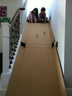cardboard slide