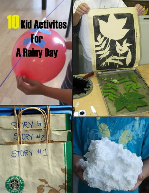 Kid Activites For A Rainy Day