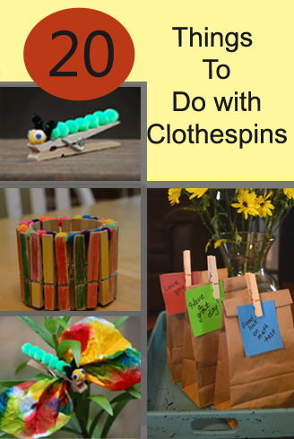 20 things to do with clothespins
