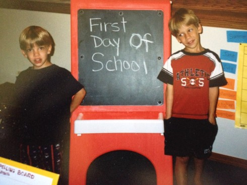 Blaine and Zacj 1st day of school