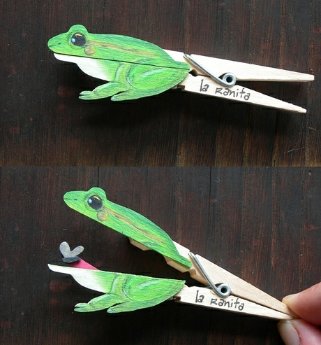 frog clothes pin