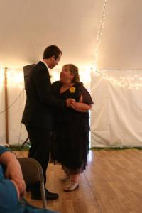 And there was a mother son dance. . . to You Are My Sunshine. Because I sang it to him all the time.