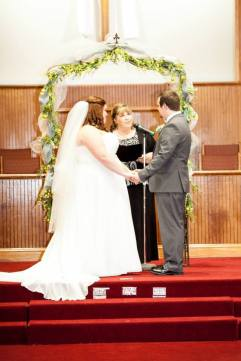 I officiated my first wedding. That's my nephew and his new wife. It was a family affair- my son was the best man, another son a groomsmen, another one the usher.