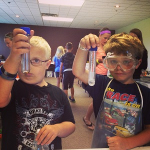 I taught science camp at our church.