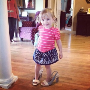 I fell in love all over again with this little cutie singing Let It Go and clunking around in her Great Grandma's high heels while I was finishing up wedding ceremony prep.