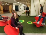 Of course our group had fun with the spinning chairs.